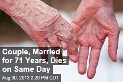 Couple, Married for 71 Years, Dies on Same Day