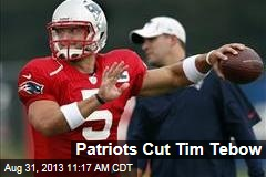 Patriots Cut Tim Tebow