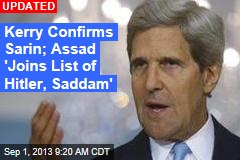 Kerry: Sarin Confirmed in Syria