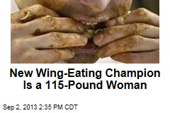 New Wing-Eating Champion is a 115-Pound Woman
