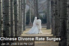 Chinese Divorce Rate Surges