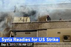 Syria Readies for US Strike