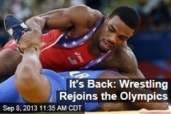 It's Back: Wrestling Rejoins the Olympics