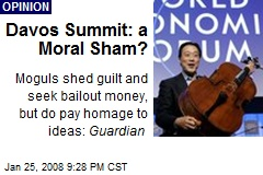 Davos Summit: a Moral Sham?
