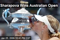 Sharapova Wins Australian Open