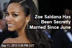 Zoe Saldana Has Been Secretly Married Since June