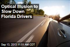 Optical Illusion to Slow Down Florida Drivers