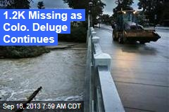 1.2K Missing as Colo. Deluge Continues