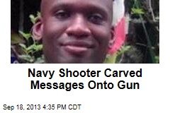 Navy Shooter Carved Messages Onto Gun