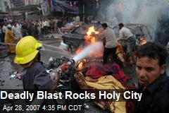Deadly Blast Rocks Holy City
