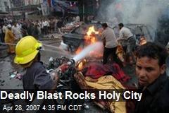 Deadly Blast Rocks Holy City