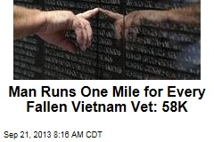 Runner Logs 58K Miles, One for Every Fallen Vietnam Vet