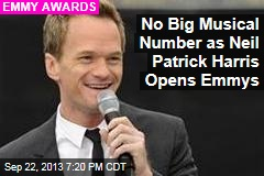No Big Musical Number as Neil Patrick Harris Opens Emmys