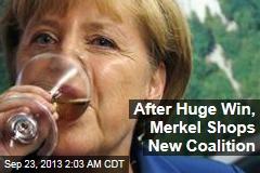 Merkel Eyes Coalition Partners After Huge Win