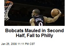 Bobcats Mauled in Second Half, Fall to Philly