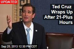 Ted Cruz Wraps Up After 21-Plus Hours