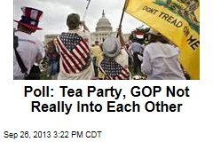 Poll: Tea Party, GOP Not Really Into Each Other