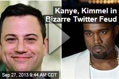 Kanye, Kimmel in Bizarre Twitter Feud