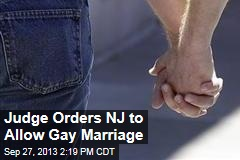 Judge Orders New Jersey to Allow Gay Marriage