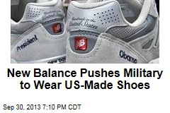 New Balance Pushes Military to Wear US-Made Shoes