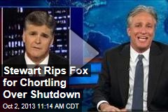 Stewart Rips Fox for Chortling Over Shutdown