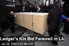 Ledger's Kin Bid Farewell in LA