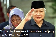 Suharto Leaves Complex Legacy