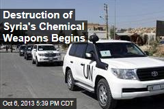 Destruction of Syria's Chemical Weapons Begins