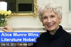 Literature Nobel Goes to Alice Munro