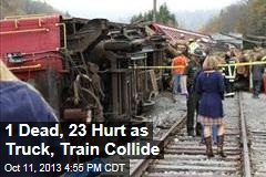 1 Dead, 60 Hurt as Truck, Train Collide