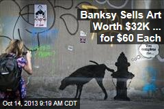 Banksy Hawks Works at NYC Stall ... for $60 Each