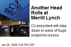 Another Head Rolls at Merrill Lynch