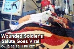 Wounded Soldier's Salute Goes Viral