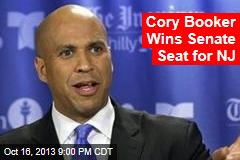 Cory Booker Wins Senate Seat for NJ