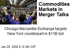 Commodities Markets in Merger Talks