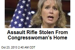 Assault Rifle Stolen From Congresswoman's Home