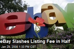 eBay Slashes Listing Fee in Half