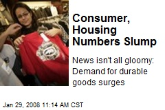 Consumer, Housing Numbers Slump