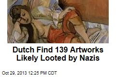 Dutch Find 139 Artworks Likely Looted by Nazis