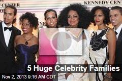 5 Huge Celebrity Families