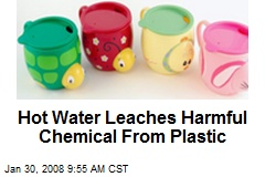 Hot Water Leaches Harmful Chemical From Plastic