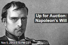 Up for Auction: Napoleon's Will