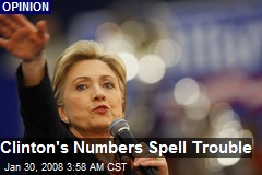 Clinton's Numbers Spell Trouble