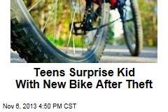 Teens Surprise Kid With New Bike After Theft