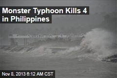Monster Typhoon Kills 4 in Philippines