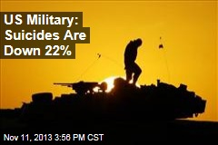 US Military: Suicides Are Down 22%