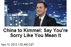 China: Kimmel Apology Not Good Enough
