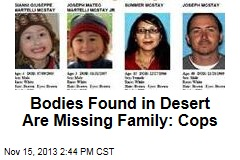Bodies Found in Desert Are Missing Family: Cops
