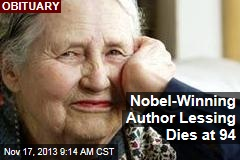 Nobel-Winning Author Lessing Dies at 94