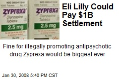 Eli Lilly Could Pay $1B Settlement